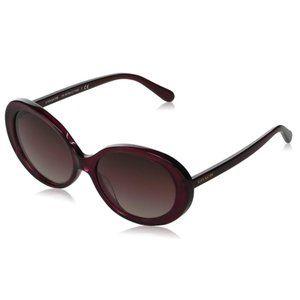 COACH Gracie Brown Oval Frame Sunglasses